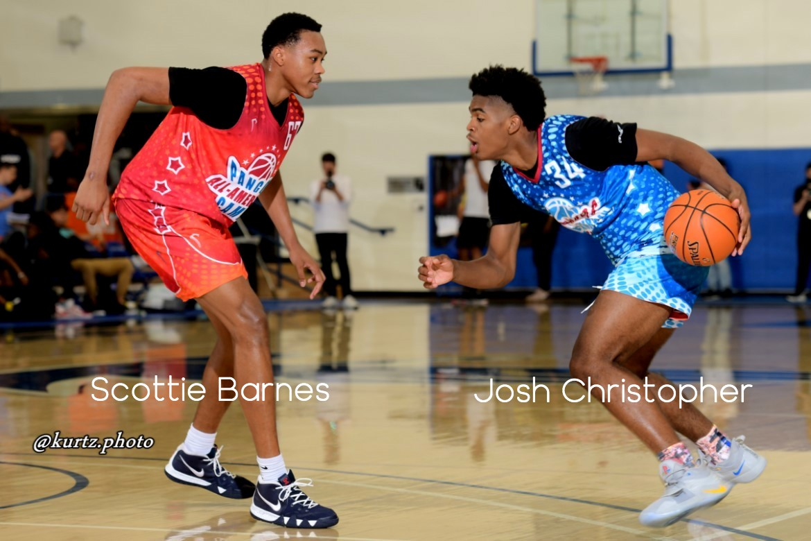 pangos. pangos all american camp. basketball. josh christopher_ scottie barnes