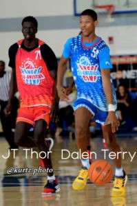 jt thor. dalen terry. basketball. pangos all american camp.